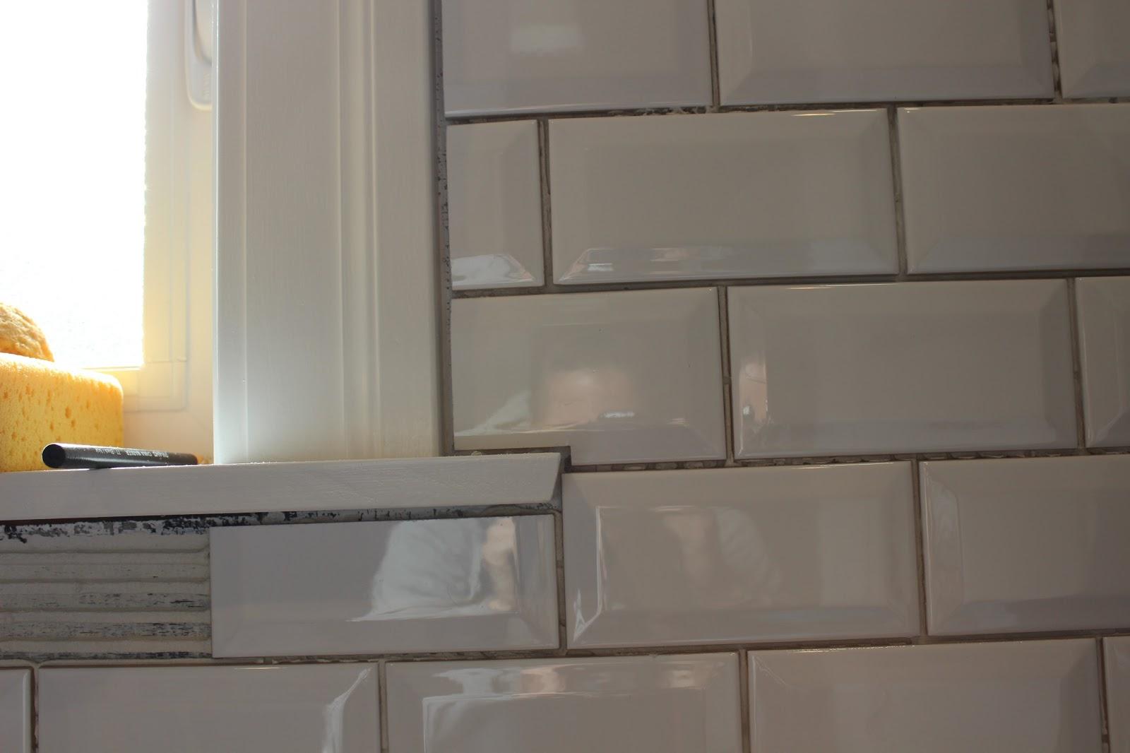 Tiling Around A Window Sill - Round Designs
