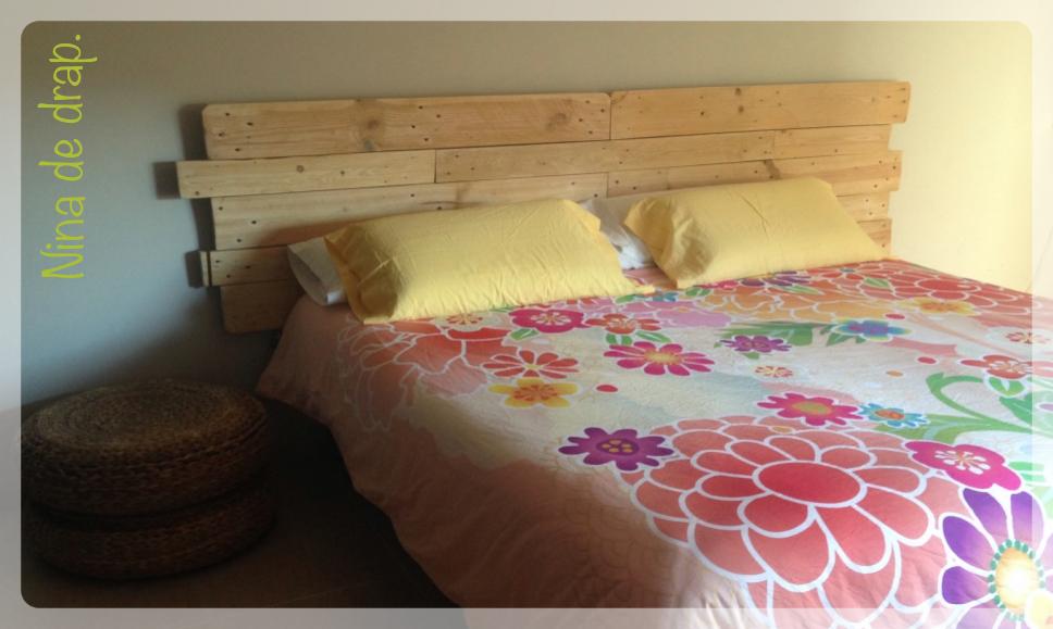 Nina de drap cabecero de cama con palets recyclingfriday 1 - Cabeceros de cama con palets ...