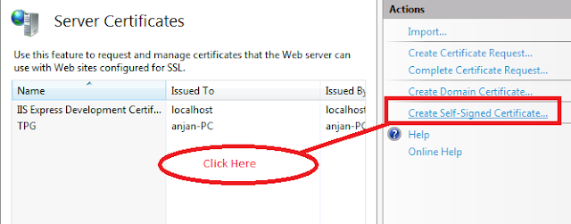 create self signed cert in iis