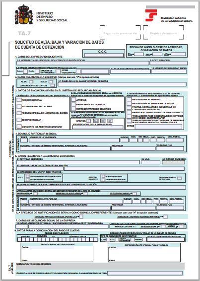 inscripcion empresa seguridad social: