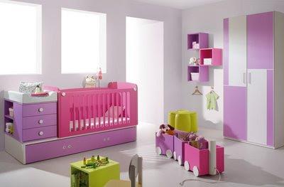 Dormitorio violeta colores bebe
