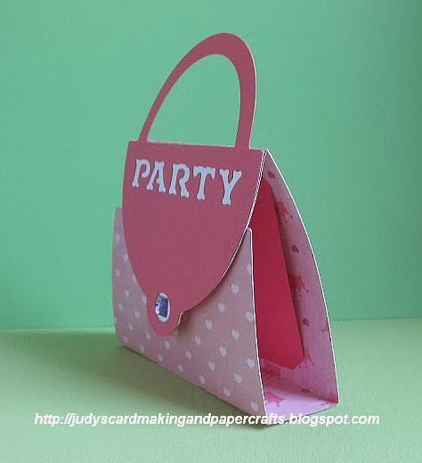Judy S Handmade Creations Purse Shape Invite Card