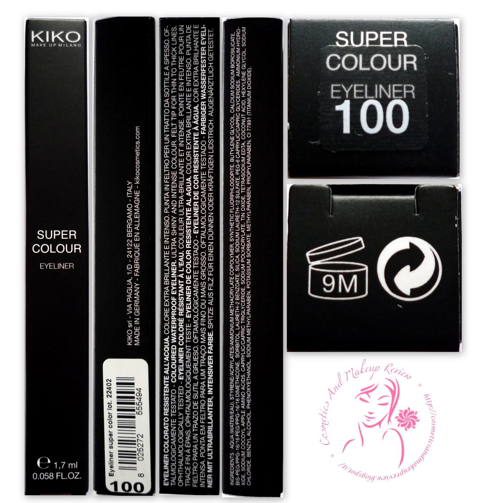 KIKO - Super Colour Eyeliner - packaging