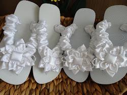 Havaianas customizadas para noivas