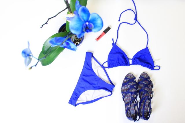 Swimwear for summer, affordable bikini, scallop hem bikini, blue swimwear, swimwear cover ups