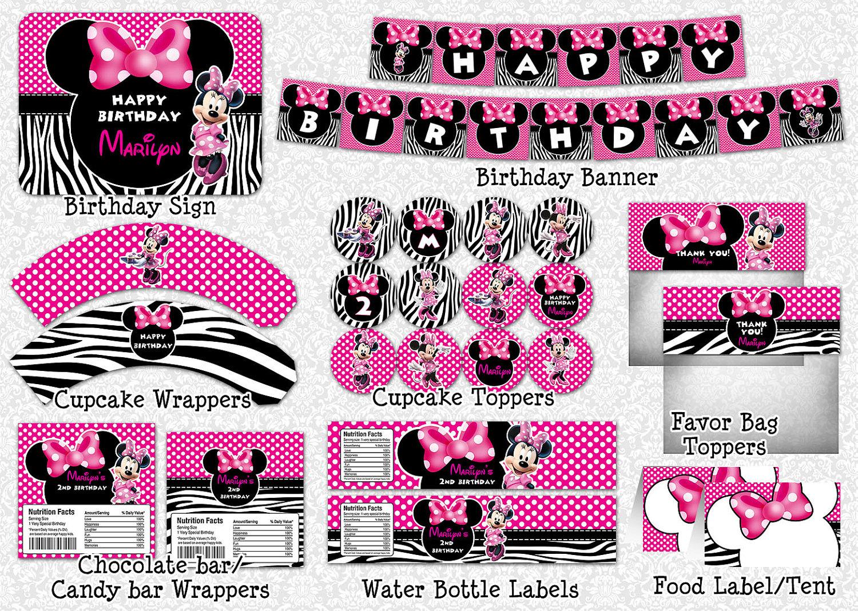 Minnie mouse zebra o cebra ideas y material gratis para - Decoracion en cebra ...