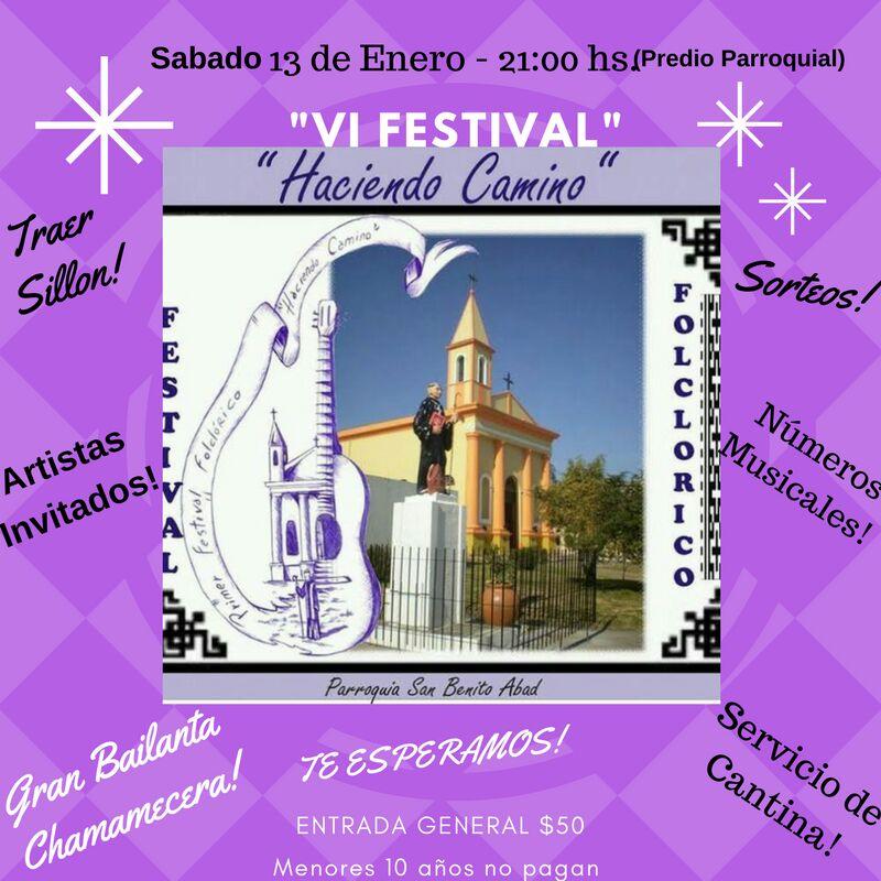 20/01/2018 VI Festival Folklorico en San Benito, Entre Rios