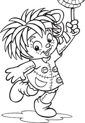 Desenho da Emilia / Sítio do PicaPau Amarelo para colorir