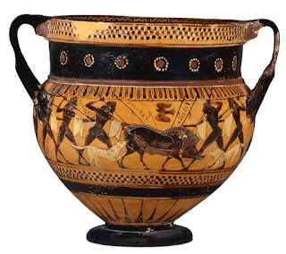 The 'Hunt krater' (575-550BC)    from Sir William Hamilton's collection    © Trustees of the British Museum