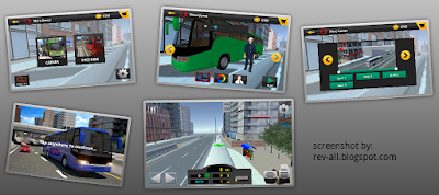 Screenshot Game: City Bus Simulator 2015 - Permainan mengendarai bus di kota (rev-all.blogspot.com)