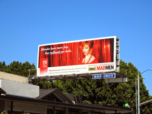 Mad Men Joan vintage Emmy 2014 billboard