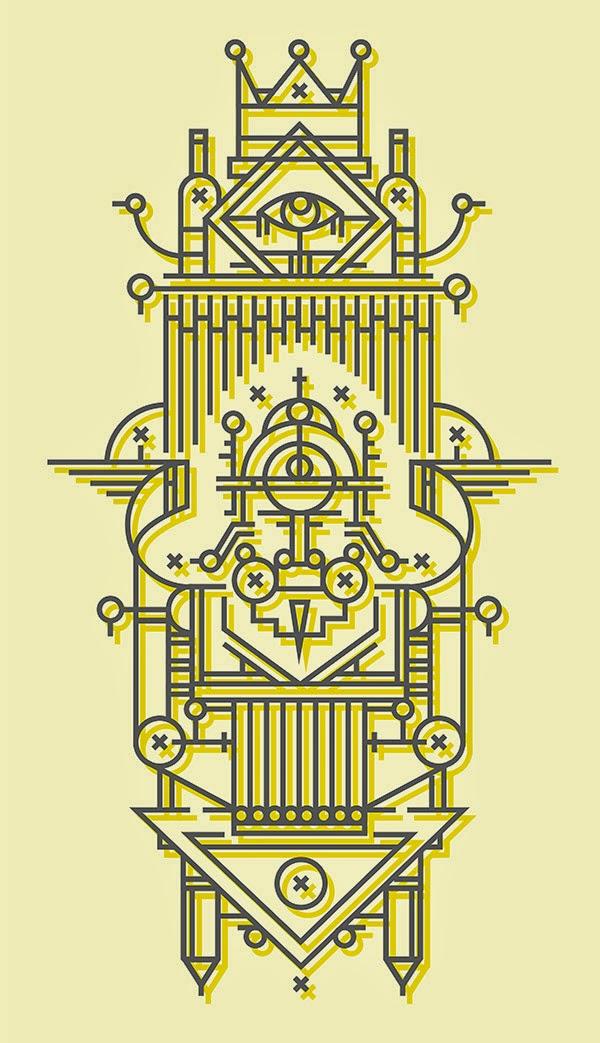 Inspirasi Desain Line Art - JUST A BIT OF FANTASY BY ALAIN L'THI
