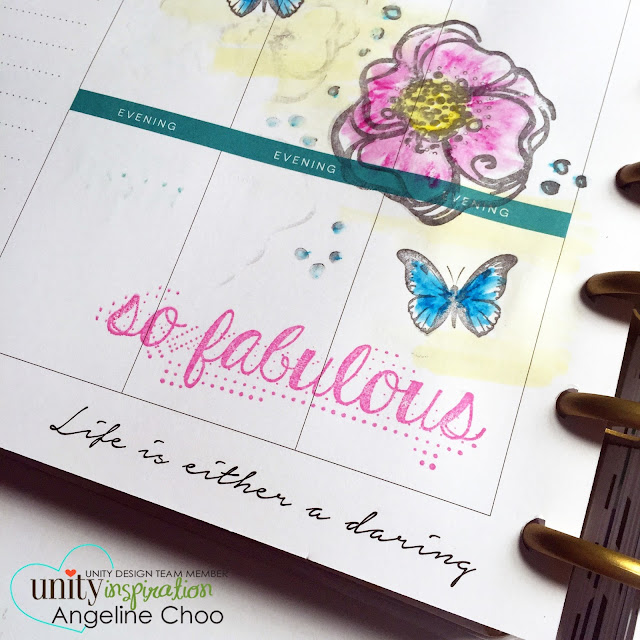 Unity Stamp Blog: Inspiration Wednesday - Planning with Angeline  #scrappyscrappy #unitystampco #stamp #stamping #planner #mambi #happyplanner #mamaelephant #plannerstamp
