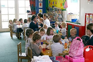 Children in a classroom