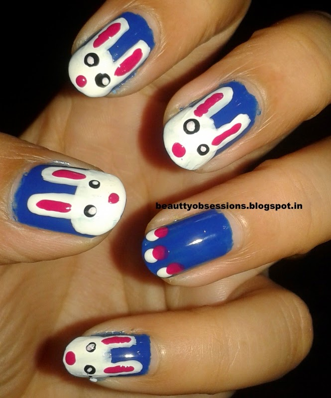 **** Cute Bunny Nail Art ****