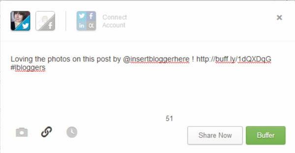 Buffer App Twitter Sharing