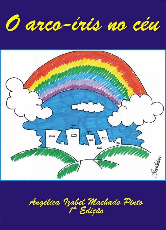 O arco-íris no céu