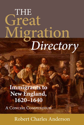 New England Historic Genealogical Society (NEHGS) Announces Publication of The Great Migration Directory by Award-Winning Genealogist Robert Charles Anderson
