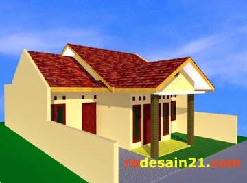 Desain Rumah Type 74 M2 Untuk Tanah 120 M2 - Sudut Kiri