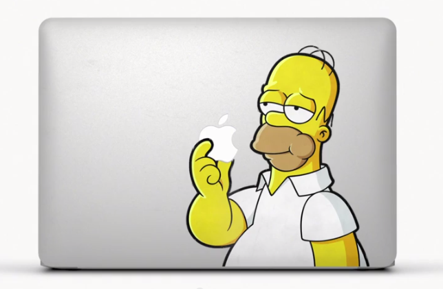 New Apple MacBook TV Ad - Commercial: shows some cool stickers, including stickers of Homer Simpsons, Walt Heisenberg and a lot more!