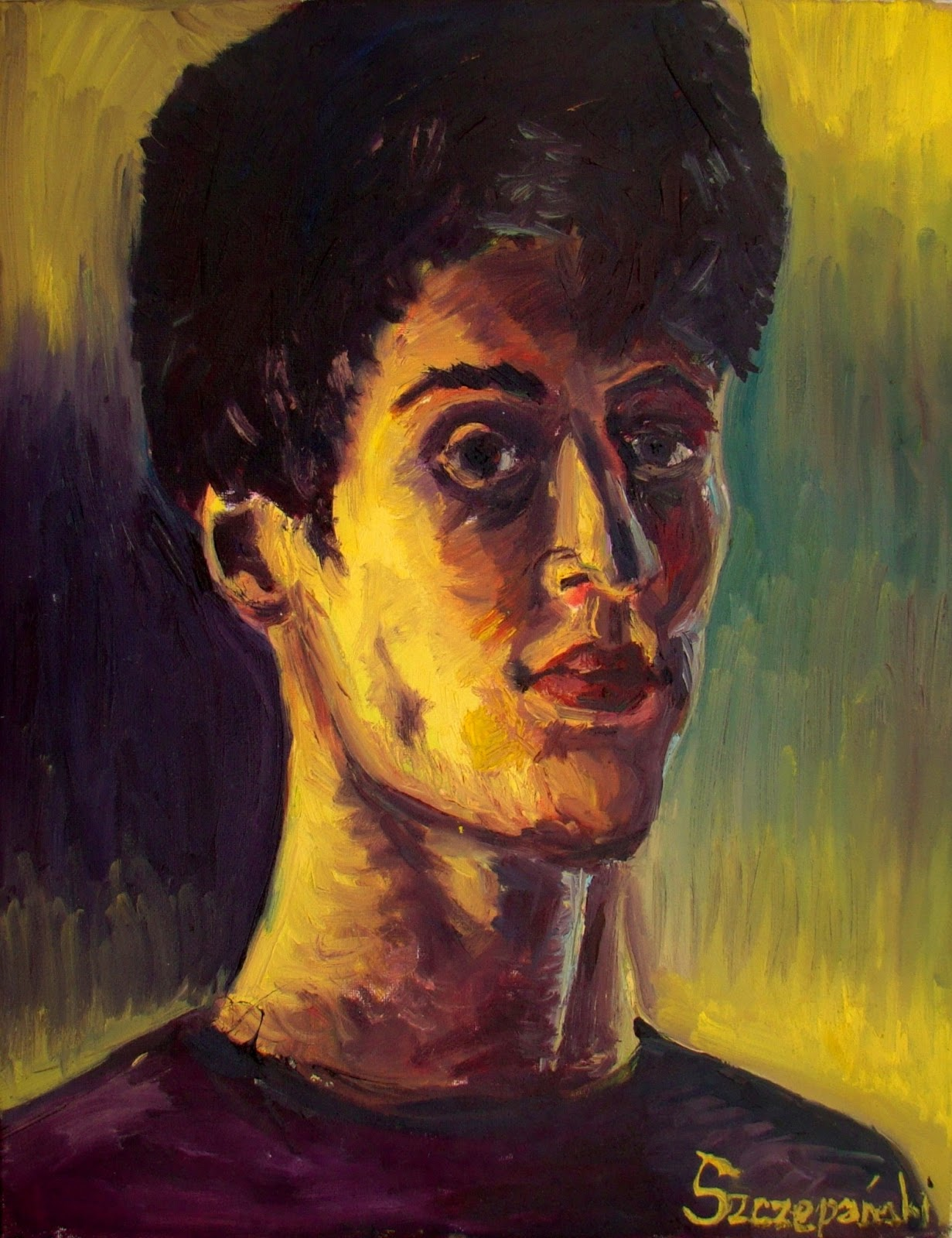 Eryk Szczepański Autoportret malarski