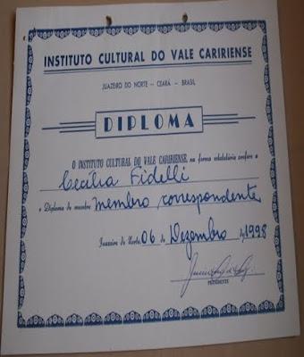 MEMBRO CORRESPONDENTE - JUAZEIRO DO NORTE - CE