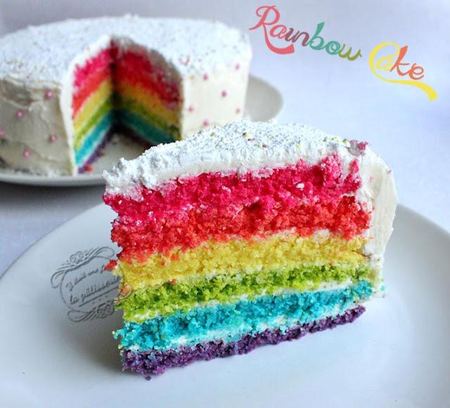 Layer Cake Glacage Multicolor Recipe