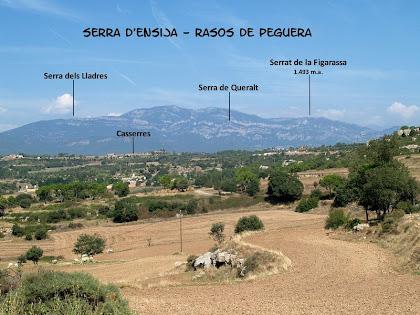 Panoràmica vers el nord des dels Camps del Puig de Fonollet