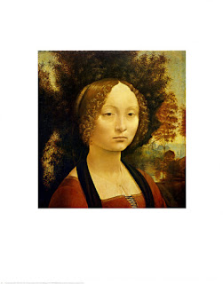 Portrait of Ginevra de Benci - Painting of Leonardo da Vinci