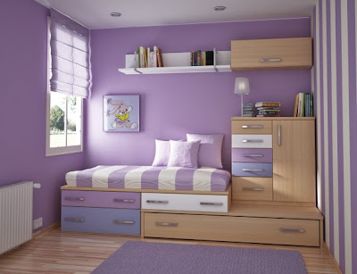 decoración dormitorio lila