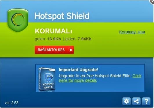 Hotspot Shield Elite Türkçe Full 3.31 İndir