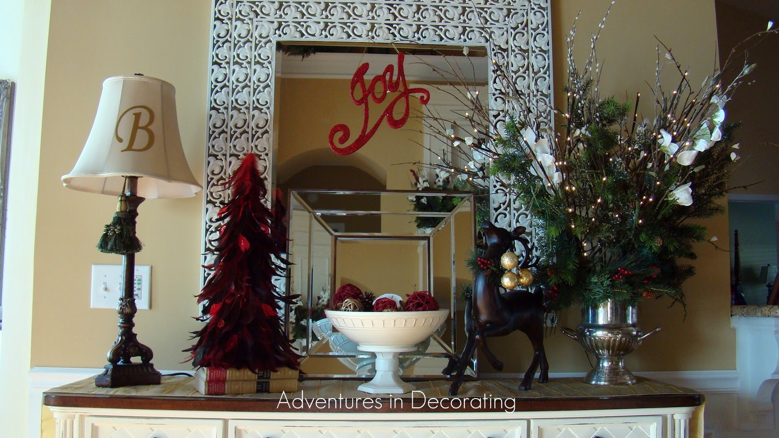 Christmas Decor For Buffet : Adventures in decorating christmas buffet