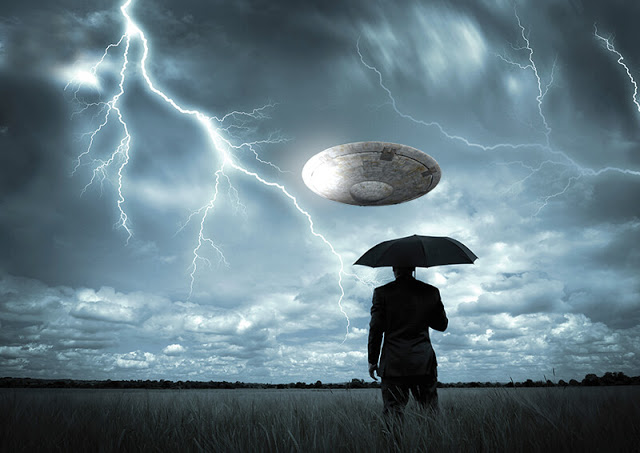 UFO Fleet Filmed During Storm — Wait, Are They Recharging?