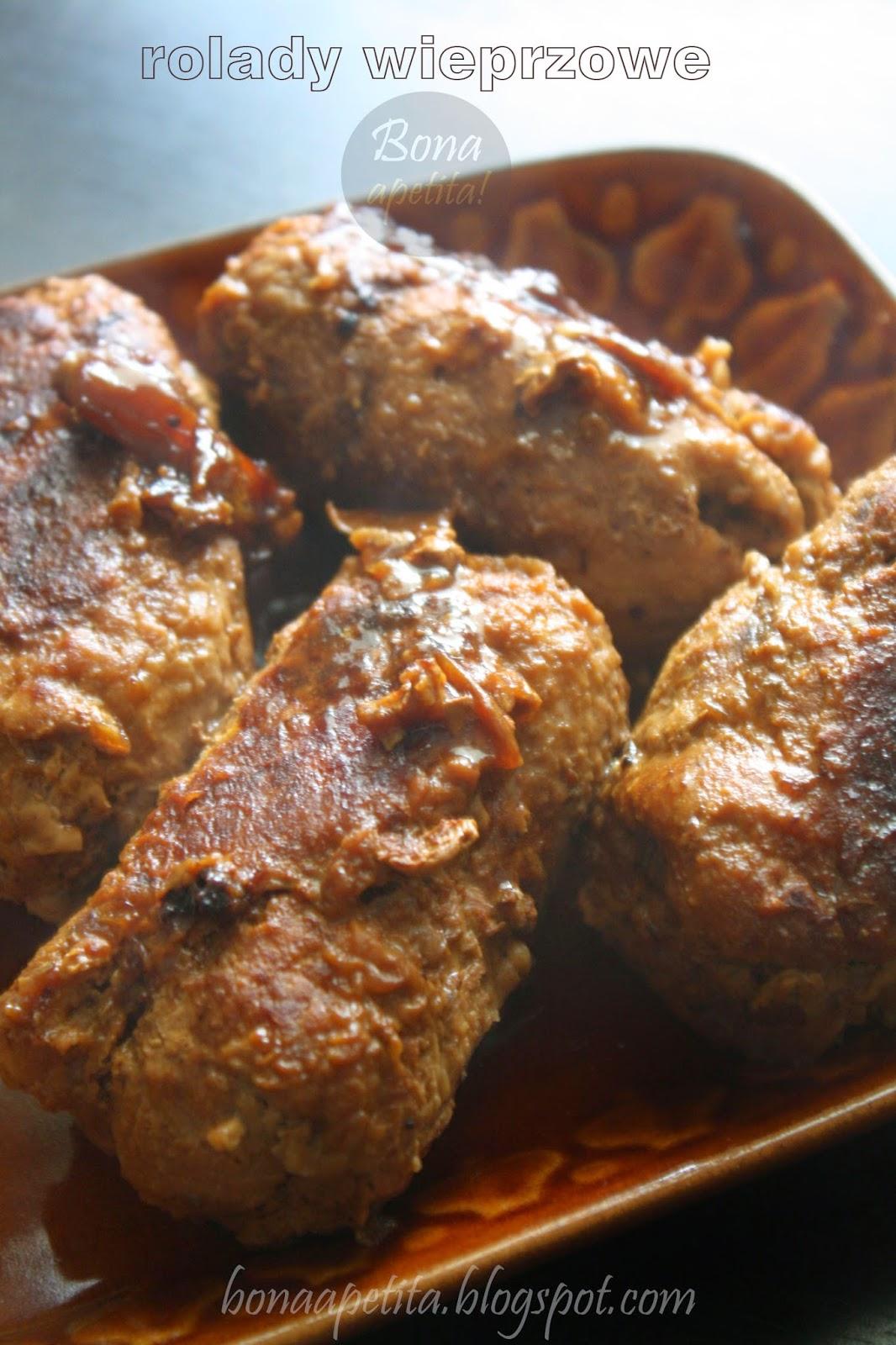 rolada tradycyjna, sos mięsny