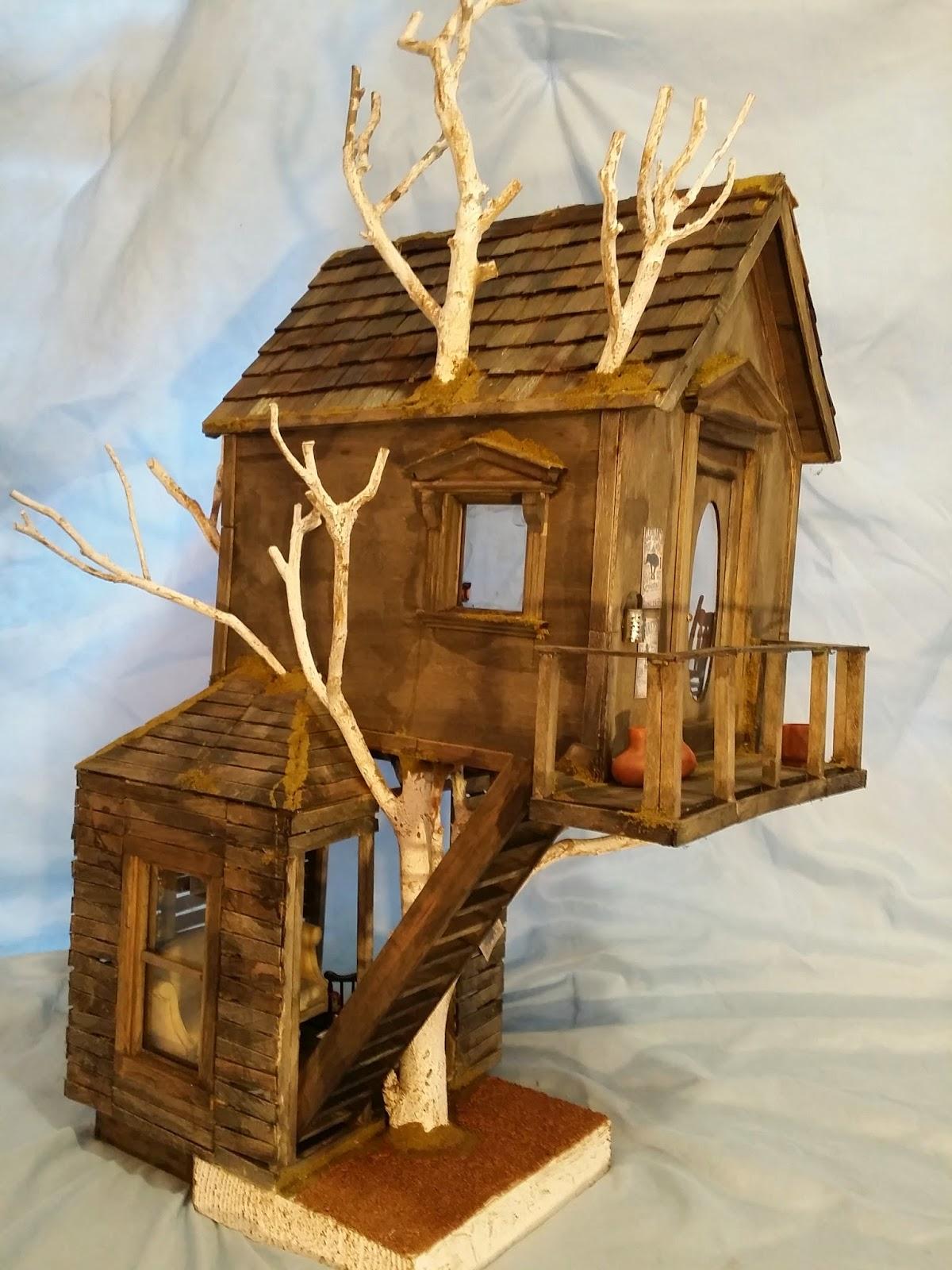 Miniature Tree House greggs miniature imaginations: old tree house