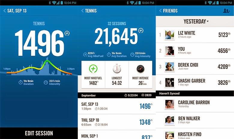 La aplicación Nike+ Fuelband en android y iOS
