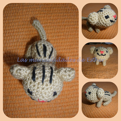 """Pequeño gato realizado a crochet para el tejijuntas """"Tejemos un gatito?)"""