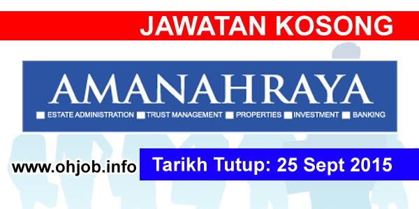 Jawatan Kerja Kosong Amanah Raya Berhad logo www.ohjob.info september 2015