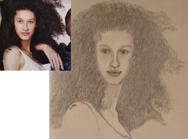 jean's journal drawing 13 portrait