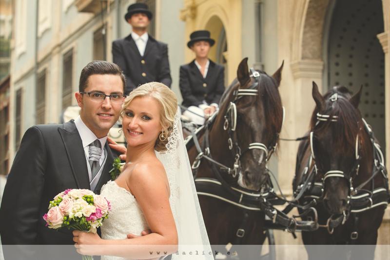 Carruaje de caballos Alicante para bodas