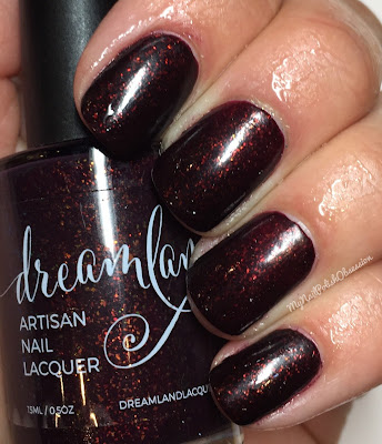 Dreamland Lacquer Inaugural Collection; Valentine's Day Trio - Great Romances, 2016 - Burned Jam In Vermont