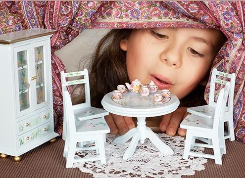 窗簾|女孩與鄉村風家飾擺設與小窗簾模型
