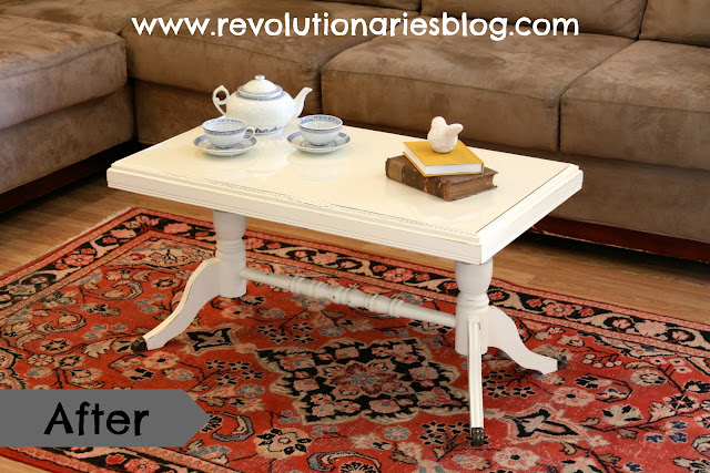 "Before & After: The ""Delicate Lace"" Antique Coffee Table"