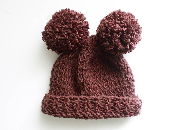 Baby Bear Hat [knitting pattern] - Gina Michele