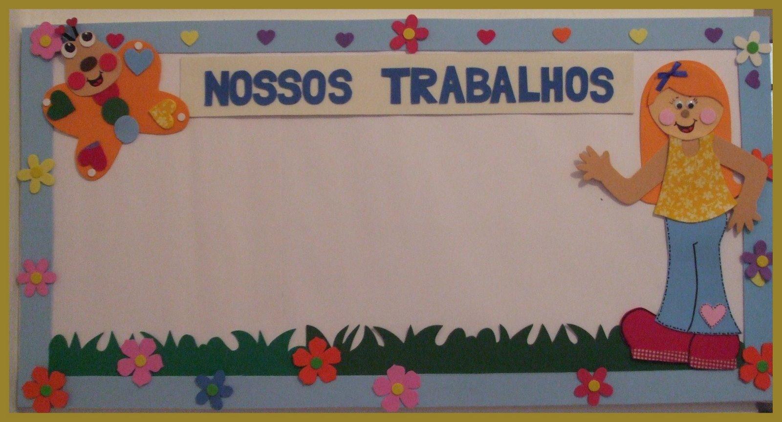 Soraia oliveira sugest es de pain is para sala de aula for Mural de isopor e eva