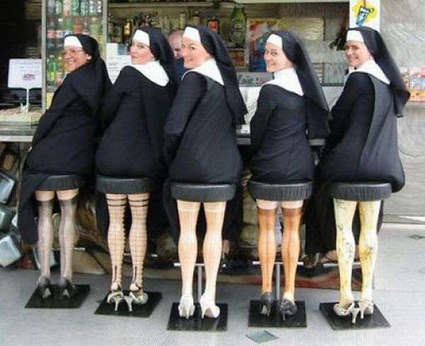dirty optical illusion nuns