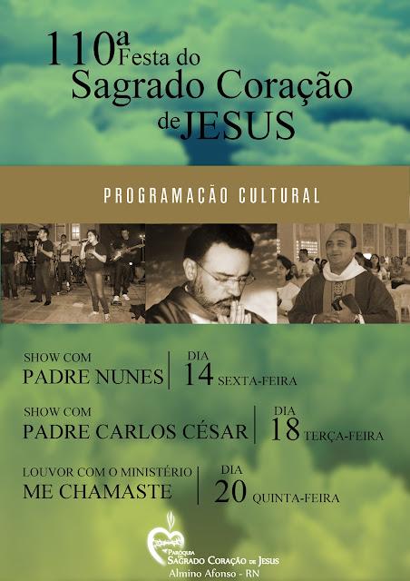 Programação cultura religiosa da festa do SCJ 2012