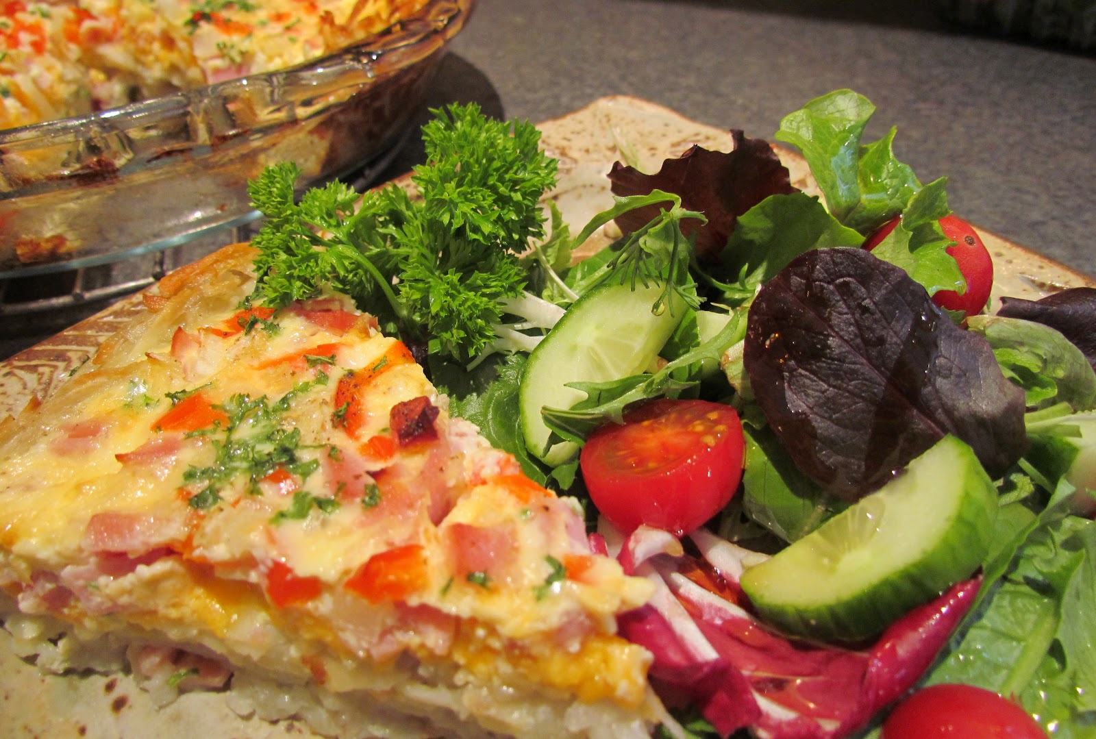 Rhubarb & Roses: Meat and Potato Quiche