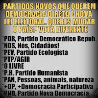partidos que propoem democracia directa