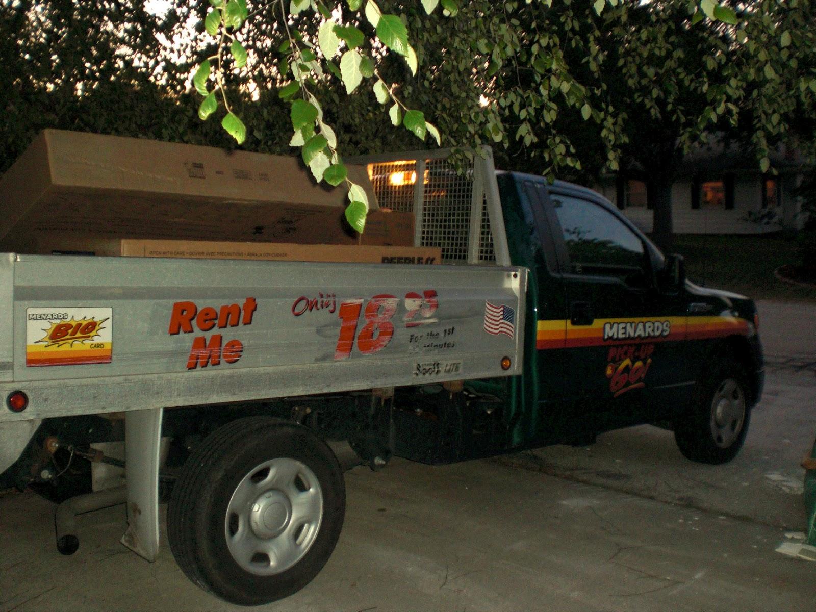 Menards truck rental rate
